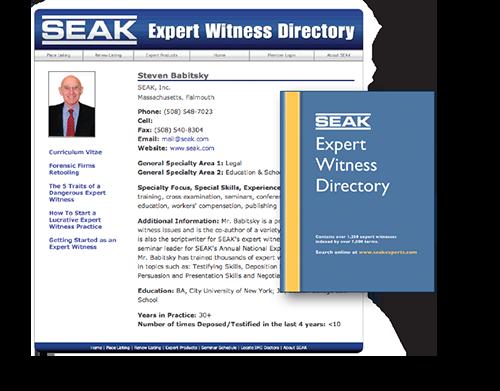 SEAK Expert Witness Directory