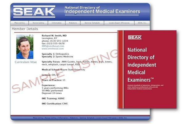 Independent Medical Examiner Resources - SEAK, Inc.